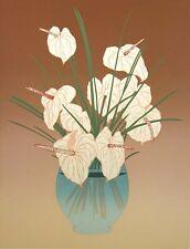 Lee White Sunday Hand Signed Artwork ltd ed Serigraph vase of flowers MAKE OFFER