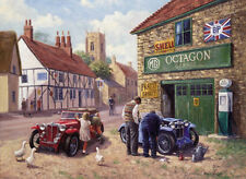 MG TC Midget Octagon Garage Classic Vintage Car Birthday Card