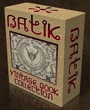 BATIK FABRIC Vintage Books on CD Wax Resist Dyeing, Javanese Indonesian Textiles