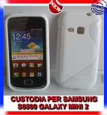 Pellicola+Custodia cover case WAVE BIANCA per SAMSUNG GALAXY MINI 2 S6500