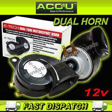 E-Tech 12v Car Lightweight Waterproof Dual Tone Motorsport Powerful Sound Horn