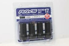 RAYS VOLK RACING 17 HEX 48MM RACING NUT M12X1.25 (4 Pack) - Black