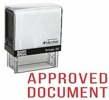 APPROVED DOCUMENT Office Self Inking Rubber Stamp - Red Ink (E-5210)
