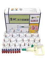 24 Cups Vacuum Suction Chinese Slimming Body Massage Therapy Cupping Set Kit