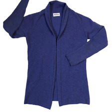 Brora 100% Cashmere Open Cardigan Made in Scotland Purple Women's Size 8-10