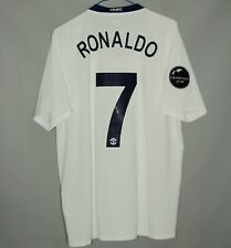 MANCHESTER UNITED 2008/2009 AWAY FOOTBALL SHIRT JERSEY #7 RONALDO NIKE UCL (L)