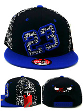Chicago New Greatest 23 MJ Jordan Bulls Black Blue Cement Era Snapback Hat Cap