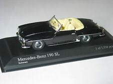 MERCEDES 190SL W121 Roadster Nero 1/43 Minichamps MOLTO RARO