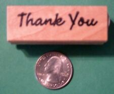 Thank You Rubber Stamp, wood mounted