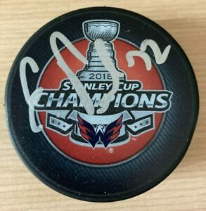 Evgeny Kuznetsov Autographed Signed Washington Capitals Stanley Cup Champs Puck