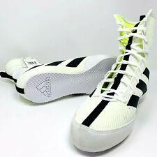 Adidas Box Hog 3 Boxing Shoes High Top White/Black Stripes Men's Size US 11