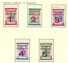 Polish Exile Government covers 194? overprinted Polish Fieldpost set of 5 MLH VF