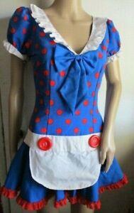 Rag Doll Polka Dot Raggedy Ann Adult S Minnie Dress Halloween Costume Clown
