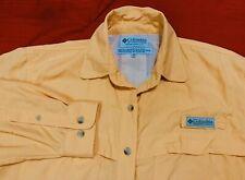 🌷COLUMBIA  PFG .. Vented Long Sleeve Button Fishing Shirt .. Orange .. Size S🌷
