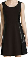Not Your Daughters Jeans NYDJ Caribou Brown Ponte Crackle Leather Dress Size 12