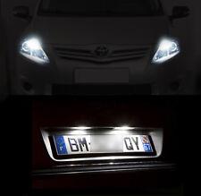 4 ampoules à LED éclairage blanc Feux de plaque + veilleuses Toyota Auris 1 2