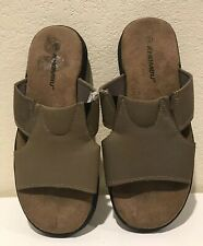 Khombu Mens Sandals Slides Brown Faux Leather Size 9