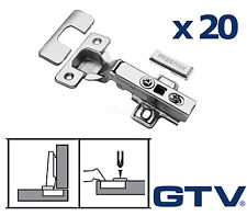 20x GTV Soft Close Kitchen Cabinet Cupboard Door Hinge Hinges Euro Plate Screws