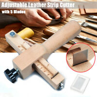 Adjustable Strip and Strap Cutter Craftool Leather Hand Cutting Tool & 5