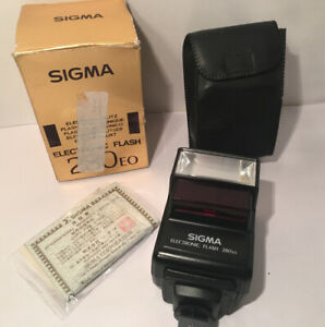 SIGMA ELECTRONIC FLASH 280EO FOR FILM CAMERA With Box Clean Tested W/ Battery