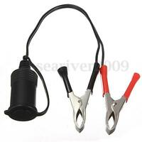 12V Car Battery Clip On Cigarette Lighter Socket Charger extension Cord Cable