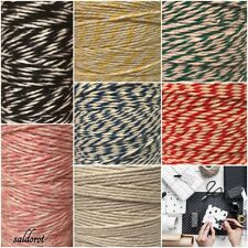Beautiful Food Safe  2mm  Butchers / Bakers String Cord 5 Colours