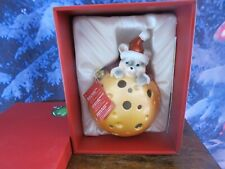 QVC Home Reflections Xmas Mouse Christmas Luminary w Flameless Candle & Timer
