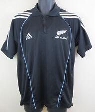Adidas All Blacks Rugby Unión Polo Camisa Prenda para el torso Camiseta Camiseta Nueva Zelanda para hombre S Pequeño
