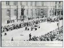 France, Rennes, Les obsèques du Cardinal Roques  Vintage silver print.  Tirage