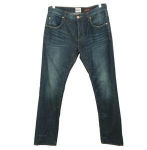 Superdry Slim Fit Jeans W34 L34 Dark Indigo Blue Wash Y2k
