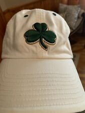 Boston Celtics NBA Adult Non-Adjustable White Clover Classic Team Logo Hats/Caps