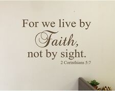 For We Live By FAITH Wall Sticker Decal Stickers Bible Verse Wall Lettering