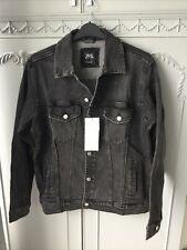 Zara Man Size M Faded Black Denim Jacket New With Minor Defect