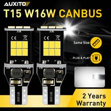 2x T15 1200LM Error Free CANBUS LED Backup Reverse Light Bulb White 921 W16W