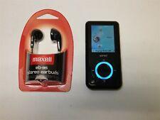 Black SanDisk Sansa e260 4Gb Mp3 Player Digital Media Fm Radio Bundle ~ Reset
