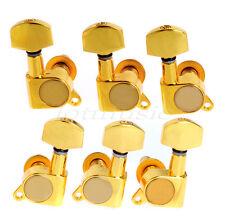 Set Of 3L3R Gold Enclosed Guitar String Tuning Peg Enclosed Machine Head Tuner