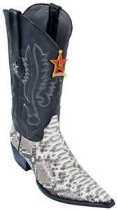 Los Altos Natural Python 3X Toe W / Cowboy Heel Boots 95V5749 Size 7EE