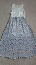 NEW GIRLS BLUE FLORAL & LACE SPRING SUMMER EASTER DRESS BY MUDD SIZE 14