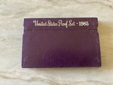 1985 US Mint Proof Clad sealed Set 5 coins Proof Type Set - San Francisco In Box