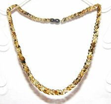 Baltic amber adult necklace, green leaf shape natural beads 45 cm /17.72 inch