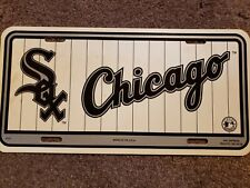 LZS4101 MLB Chicago White Sox Laser-Cut Auto Tag Rico Industries Inc