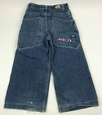 Vtg 90's JNCO Wide Leg YOUTH Jeans ICE Baggy BIG Pockets SKATER Size 12 25x20""