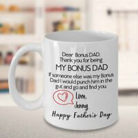 Bonus Dad Funny Mug Gift For Step Dad  Father's Day Gift For Men Personalized