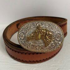 Vintage Crumrine Buckle Quarter Horse Head El Arturo Bronze Western Cowboy