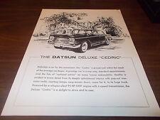1960s Datsun Deluxe Cedric Sales Flyer