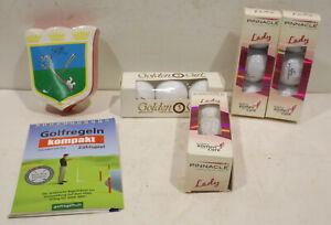3 Pack Golf Balls Pinnacle Lady +1Pack Golden Girl +1 Shirt Present Gloria Golf