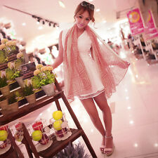 Women Ladies Long Soft Chiffon Scarf Wrap Large Silk Winter Shawl Stole Scarves