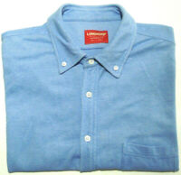 R.M. WILLIAMS MENS SIZE L BLUE LONGHORN TAPERED FIT SHORT SLEEVE SHIRT FREE POST