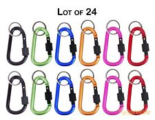 "Carabiner 3"" Aluminum Hook Twist Lock Keychain Key Ring Spring Belt Clip 24 Pack"