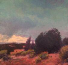 Southwest Santa Fe Western Art Oil Painting Impressionism Landscape Realism Rain